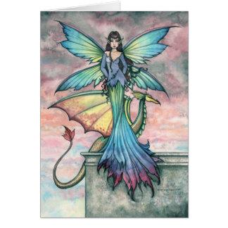Tarjeta de hadas mística Notecard del dragón