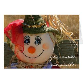 Tarjeta de Halloween--Chica del espantapájaros--Ta