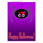 tarjeta de Halloween de la araña