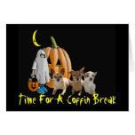 Tarjeta de Halloween de la chihuahua