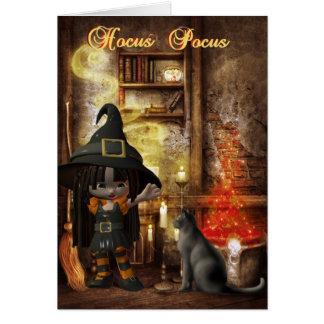 Tarjeta de Halloween de la fórmula de prestidigita
