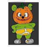 Tarjeta de Halloween de la Jack-O-Linterna de Gumm
