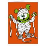 Tarjeta de Halloween de la momia de Gummibär