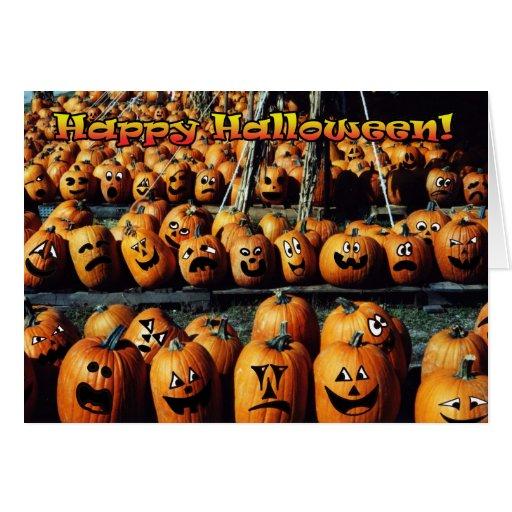"""""""Tarjeta de Halloween de la reunión de la calabaza"""
