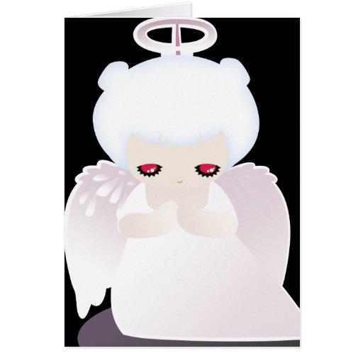 Tarjeta de Halloween del ángel para los niños