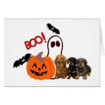Tarjeta de Halloween del Dachshund