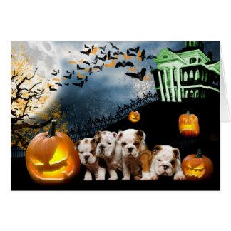 Tarjeta de Halloween del dogo