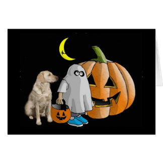 Tarjeta de Halloween del labrador retriever