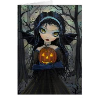 Tarjeta de Halloween del priacántido del vampiro d