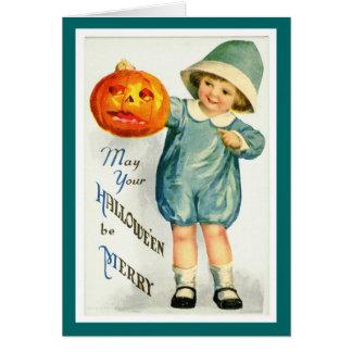 Tarjeta de Halloween del vintage
