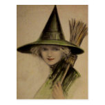 Tarjeta de Halloween del vintage Tarjetas Postales
