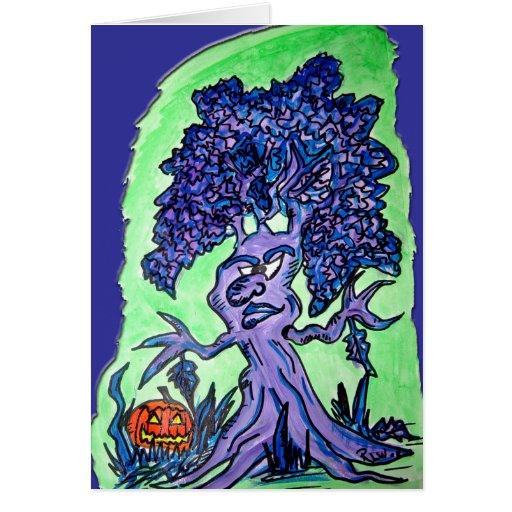Tarjeta de Halloween - HalloweenTree