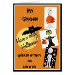 Tarjeta de Halloween para el nieto