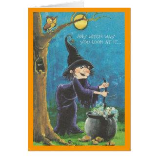 Tarjeta de Halloween para los niños