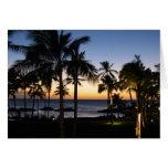 Tarjeta de Hawaii de la bahía de Keauhou