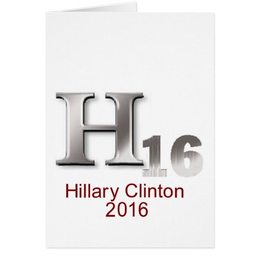 Tarjeta de Hillary 2016