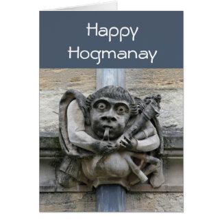 Tarjeta de Hogmanay del Gargoyle
