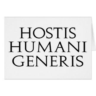 Tarjeta de Hostis Humani Generis