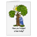 Tarjeta de Hugger del árbol