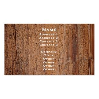 Tarjeta de imagen del tronco de árbol tarjetas de negocios