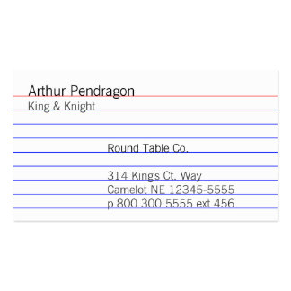 Tarjeta de índice tarjetas de negocios
