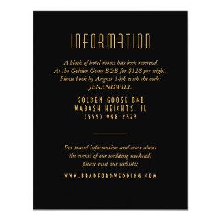 """Tarjeta de información del boda del fan del art invitación 4.25"""" x 5.5"""""""