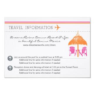 """Tarjeta de información - documento de embarque invitación 3.5"""" x 5"""""""