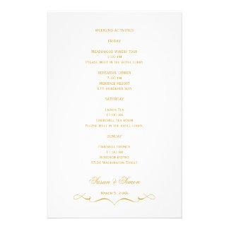 Tarjeta de información elegante del boda de la esc papeleria personalizada
