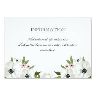 """Tarjeta de información floral preciosa invitación 3.5"""" x 5"""""""