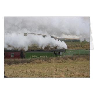 Tarjeta de Inglaterra del tren del vapor