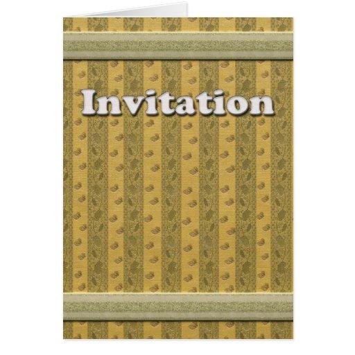 Tarjeta de Inivitation