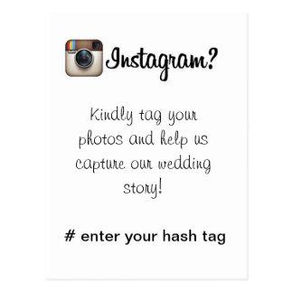 Tarjeta de Instagram Tarjeta Postal