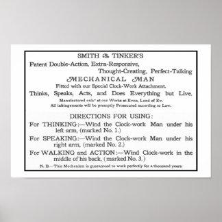 Tarjeta de instrucciones de Tik-Tok Póster