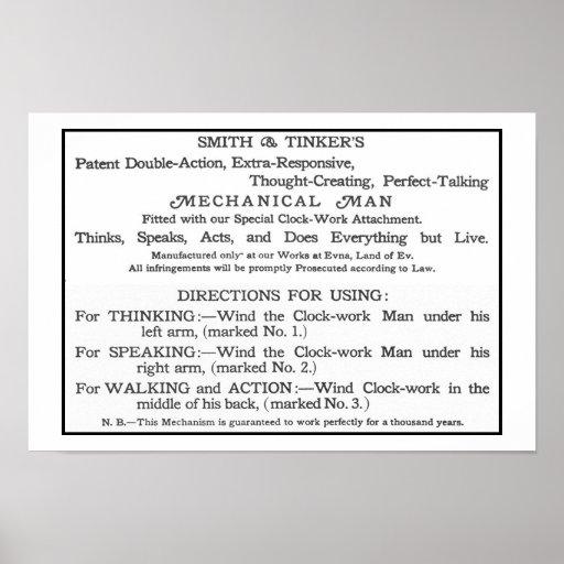 Tarjeta de instrucciones de Tik-Tok Poster