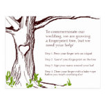 Tarjeta de instrucciones del árbol de la huella da tarjetas postales