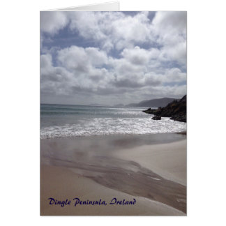 Tarjeta de Irlanda de la península de la cañada