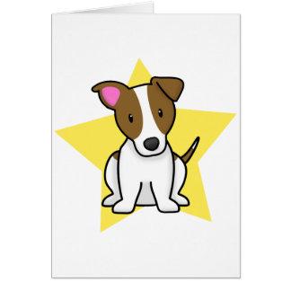 Tarjeta de Jack Russell Terrier de la estrella de