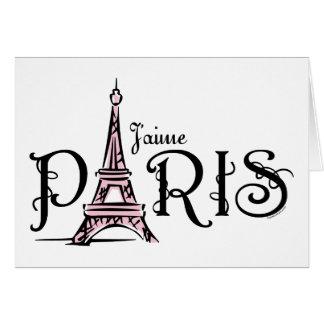 Tarjeta de J'aime París