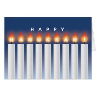 Tarjeta de Jánuca con las velas
