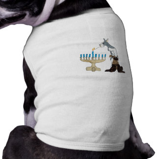 Tarjeta de Jánuca - de Chanukah Ropa Para Mascota