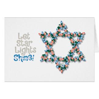 Tarjeta de Jánuca de la luz de navidad