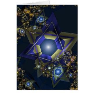 Tarjeta de Jánuca del fractal