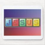 Tarjeta de Jesús Alfombrillas De Ratones
