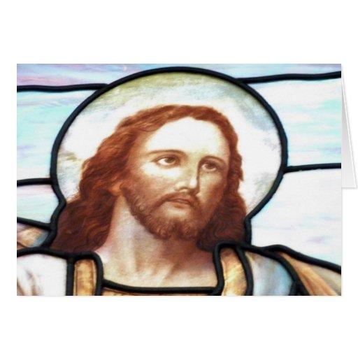 Tarjeta de Jesús del vitral