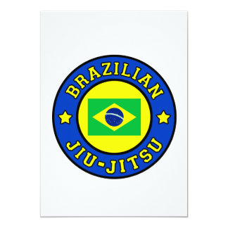 "Tarjeta de Jiu-Jitsu del brasilen@o Invitación 5"" X 7"""