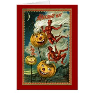 Tarjeta de JOLs de los diablos de Halloween