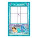 """Tarjeta de juego del bingo de la fiesta de folleto 5.5"""" x 8.5"""""""