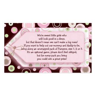 Tarjeta de juego dulce rosada del lunar del chica  plantillas de tarjetas de visita