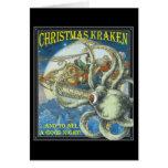 Tarjeta de Kraken del navidad