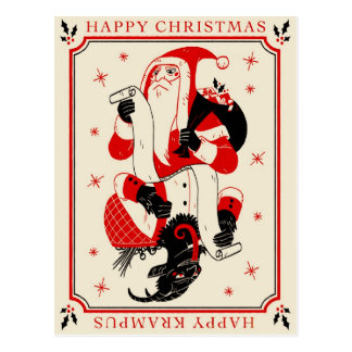 Tarjeta de Krampus del navidad - lista Postal